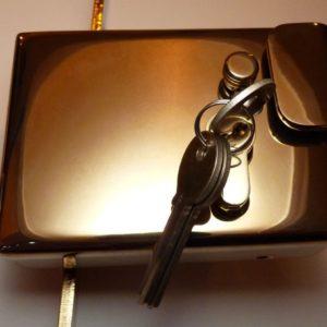 KIBB latching rim lock